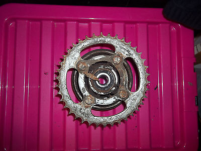 Kaisar XTR125 rear sprocket and hub  2008