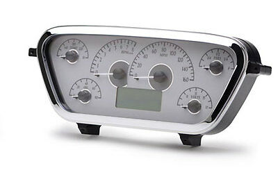 1953-55 Ford Pickup VHX Instruments (Silver Alloy Red)