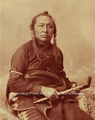 CREE INDIAN CHIEF LITTLE BEAR VINTAGE PHOTO NATIVE AMERICAN OLD WEST  #21440