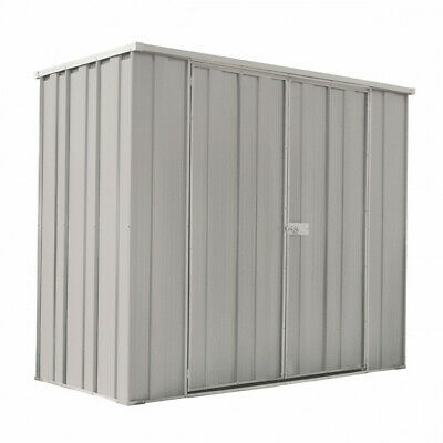 YardSaver Slimline F63 2.105m x 1.07m Flat Roof Double Door Zinc - AUG SPECIAL
