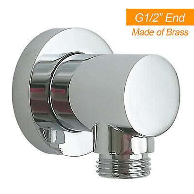 Solid Brass Chrome Shower Elbow Connector For Bathroom Flexible Shower Hose Head