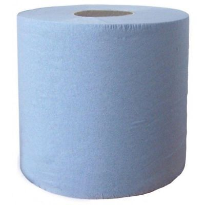 Blue Centre Feed Embossed 2ply Wiper Paper Towel Roll Centrefeed Catering