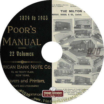 Poor's Manual of Railroads { 22 History Volumes } on DVD