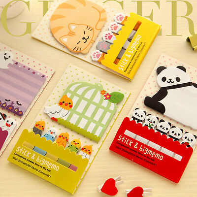 Funny Cartoon Sticker Post It Bookmark Marker Memo NotePad Sticky Notes (AB05)