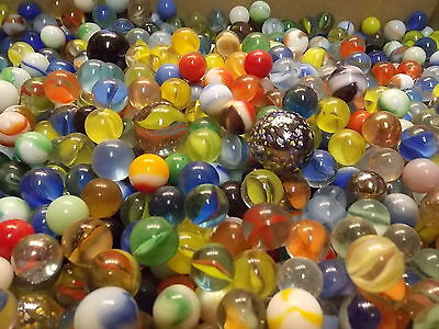 4 Vintage Marbles - Estate Found Fresh, Glass, Cat's Eyes, Swirls, Vitro, Agate