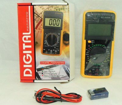 Multimetro Digital, Voltimetro, Polimetro, Dt9205A- Kit Con Sus Cables- Oferta