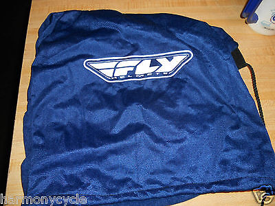 FLY brand helmet bag in blue with drawstring, no helmet, just the bag