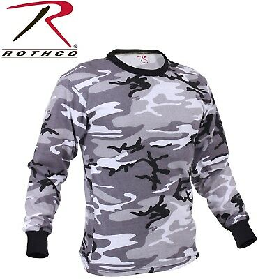 City Camouflage Long Sleeve T-Shirt Tactical Military Shirts Rothco 67790