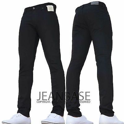 New Boys Kids Enzo Dark Designer Stretch Skinny/Slim Fit Denim Chino Jeans Bnwt