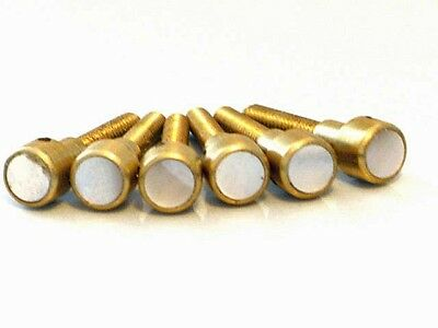 JLD Bridge Doctor for Bowed/Warped/Bellied Guitar Tops, Brass w/Mother-of-Pearl