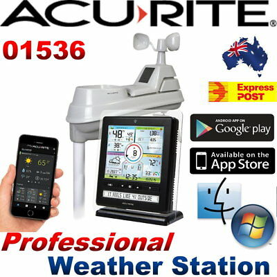 Acurite Wireless Professional Weather Station 5-in-1 w/ Colour Monitor Phone App