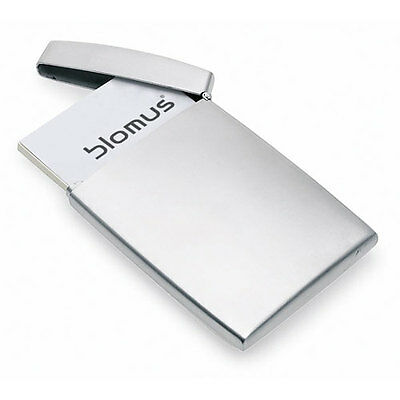 Blomus GENTS Business Card Credit ID Holder Case Work Brushed Stainless Steel