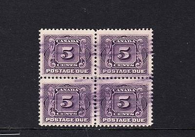 Canada Scott J4 Blk4 Used - 1906-28 Postage Due Issue