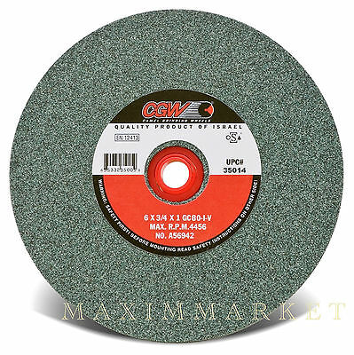 "CGW 6""x3/4""x1"" Grinding Wheel Green Silicon Carbide 100 Grit for Bench Grinder"