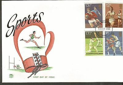 Great Britain Scott 924 - 927 - Sports On Cover.  #02 GB924FDC