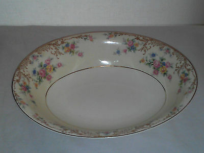 Steubenville Bowl with flowers and gold accents