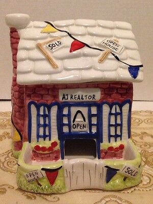 2004 Lefton Number 18351 Realtor Office People Theater Candy Dish Office Decor