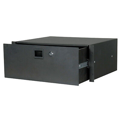 "Pulse 19 INCH RACK DRAWER - 4U LOCKABLE STUDIO 19"" CASE PA RD4"