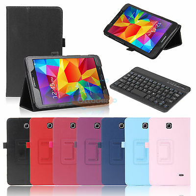 "Leather Stand Case Cover+Keyboard For Samsung Galaxy Tab 4 8 8.0"" T337 SM-T330NU"