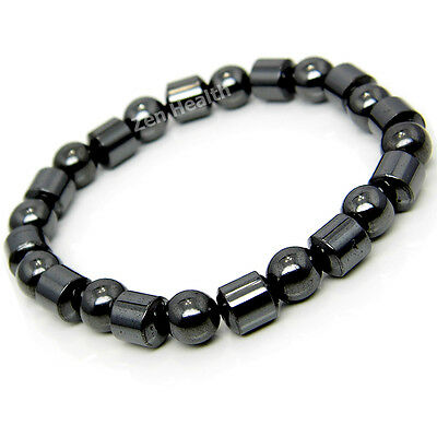 NATURAL Hematite Magnetic Healing Bracelet For Stress / Pain and Arthritis
