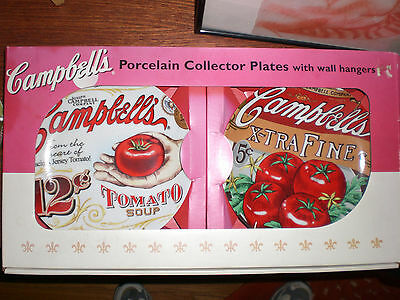 Campbell's Soup Porcelain Collector Plates Soup Extra Fine Wall Hangers Heritage