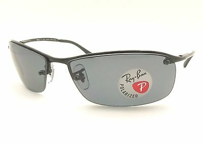 Ray Ban RB 3183 002/81 63mm Black Grey Polarized Sunglass New Authentic