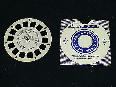 View Master Reel # 63 Honolulu Hawaii View Master Hand Lettered