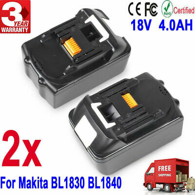 2��3000mAh 18V Lithium Ion Replacement Battery for Makita BL1815 BL1830 194230-4