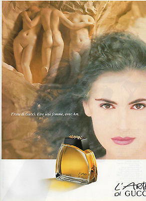 Publicité Advertising 1990  Parfum  L'ARTE DI GUCCI