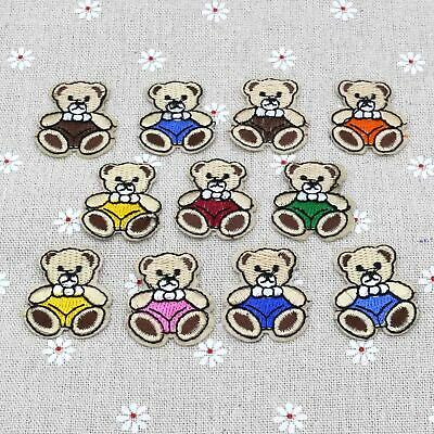 Cute Exquisite Bear Embroidered Cloth Iron On Patch Sew Motif Applique
