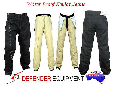 Waterproof Resistant Motorcycle Motorbike Jeans Pants Fully Lined Protection