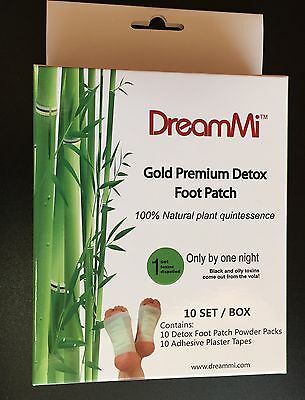 20P GOLD Premium Detox Foot Pad &Adhesive Tape Organic Herbal Cleansing WITH BOX