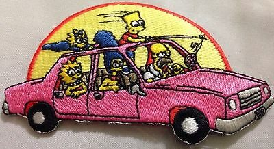 """The Simpsons Car Patch 2""""x4"""""""