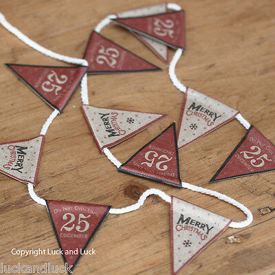East of India *MINI* Christmas Bunting Merry Christmas Decoration 1m Vintage