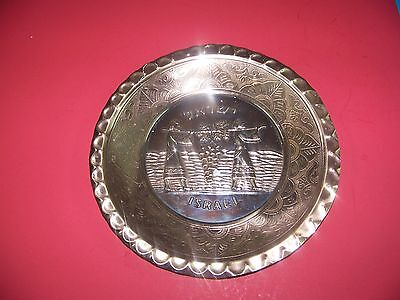 JERUSALEM HANDCRAFTED PLATTER  BRASS MESIKA G AND SONS