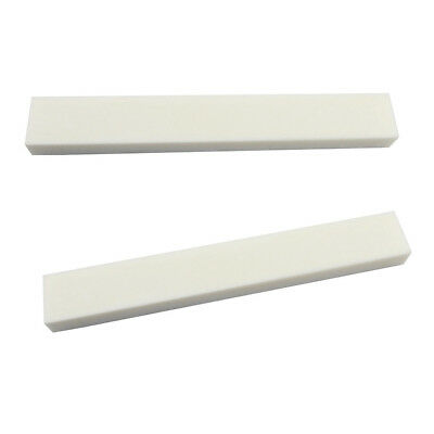 2PCS Unfinished Blank Bone Nut Saddle 83*12*6mm for Guitar Bass DIY Building