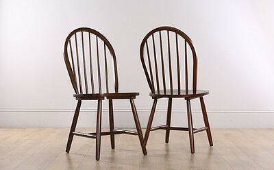2 4 6 8 Windsor Dark Finish Wooden Dining Room Chairs