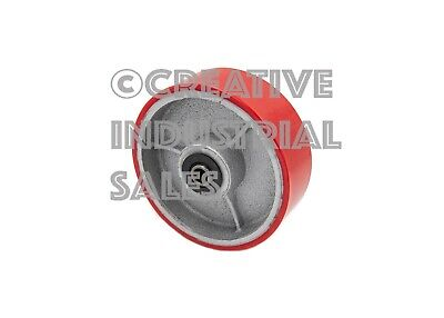 "6"" x 2"" Polyurethane Wheel on Steel Hub w/ Roller Brg & FREE 1/2"" Bushing 1200lb"