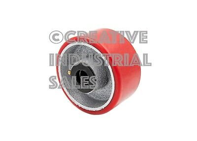 "4"" x 2"" Polyurethane Wheel on Steel Hub w/ Roller Brg & FREE 1/2"" Bushing 700lb"