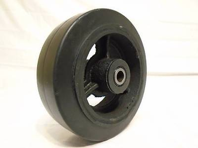 "6"" x 2"" Rubber Wheel on Steel Hub w/ Roller Bearing & FREE 1/2"" Bushing 550lb"