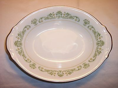 Style House - Contessa - Green - Oval Serving Bowl