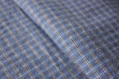 Vintage  work clothing PLAID material soft brushed cotton BLUE