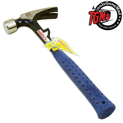 Estwing E6-22T 22Oz Hammertooth Smooth Face Claw Framing Hammer Vinyl Shock Grip
