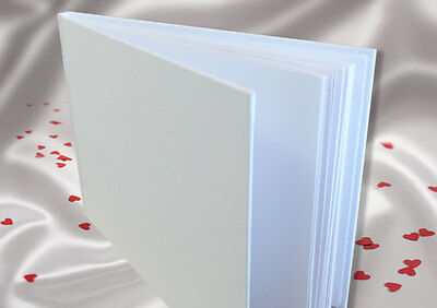 A5 White Linen Finish Guest Book - boxed - with FREE 'Sign the Guestbook' card