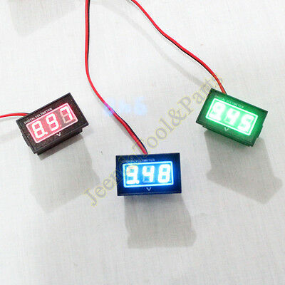 Waterproof Monitor 12V Battery Meter 2.5-30V DC Auto Gauge Digital Voltmeter LED