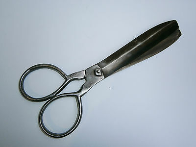 *Famous Owner ANTIQUE big 19C. EARLY PRIMITIVE HAND FORGED SCISSORS SHEARS 1887
