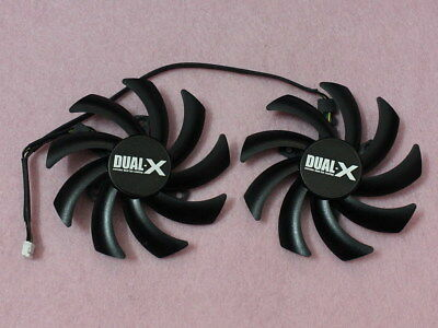 85mm Sapphire AMD R9 280X 280 270X Dual-X Fan Replacement FD7010H12S 0.35A R158a