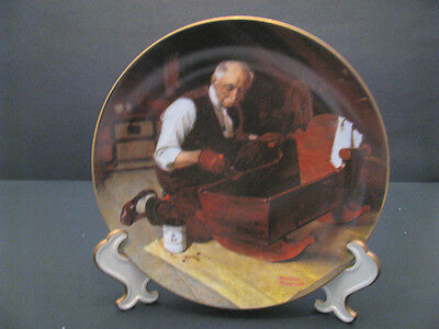 Collectible Plate Knowles Norman Rockwell Grandpa's Gift #6386D 1987