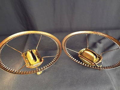 "1870-80 Matched Pair of Leader Rectangular Set-Screw Burners & 7"" Shade Holders"