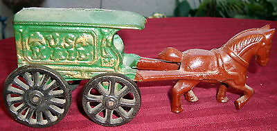 Cast Iron USA MAIL WAGON AND HORSE